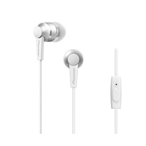 Pioneer se-c3t blanco auriculares con micrófono diseño acabado en aluminio alta calidad