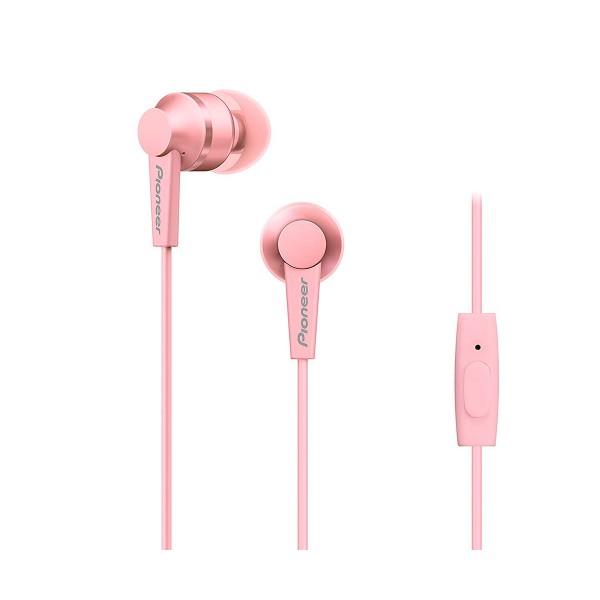 Pioneer se-c3t rosa auriculares con micrófono diseño acabado en aluminio alta calidad