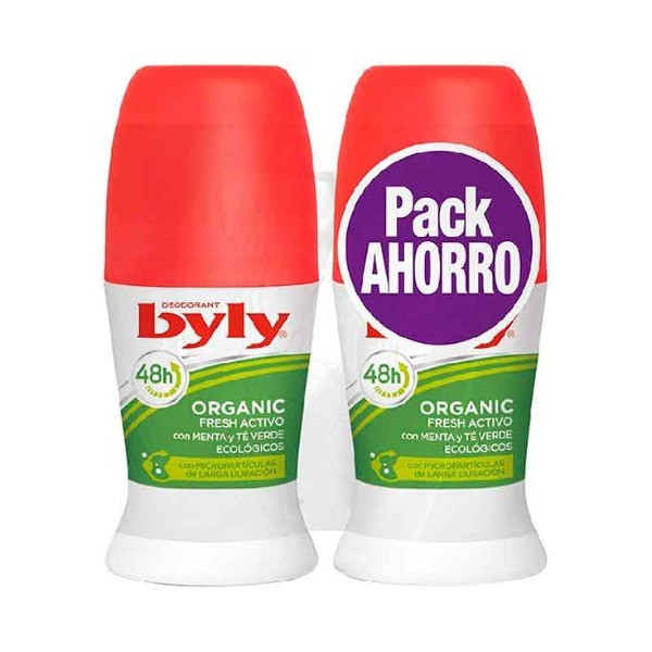 Byly Deo Roll On Organic duplo Pack ahorro 50 + 50 ml