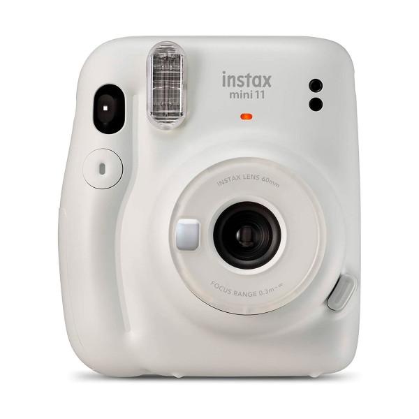 Fujifilm instax mini 11 blanco hielo cámara instantánea con flash de alto rendimiento