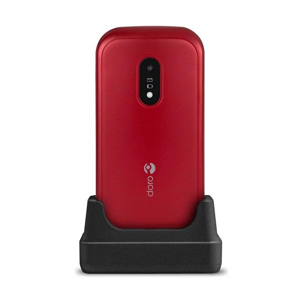 Doro 6040 rojo blanco móvil senior con cámara de 2mp con flash led conectividad bluetooth