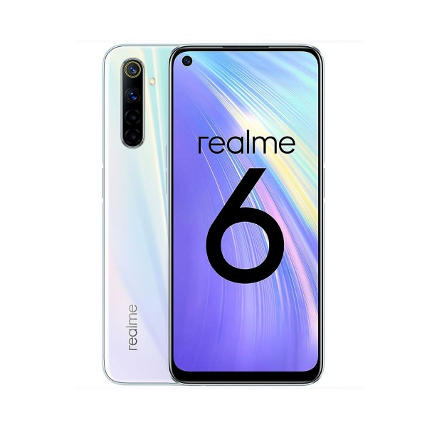 Realme 6 comet white 4g dual sim 6.5'' ips 90hz fhd+ octacore 64gb 4gb ram quadcam 64mp selfies 16mp