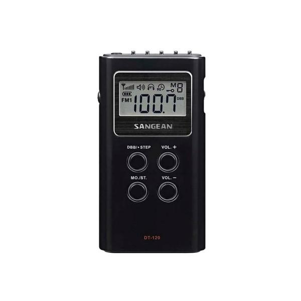 Sangean mpr-100 black radio digital  de bolsillo am/fm 15 presintonias